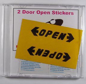 Door Open Stickers